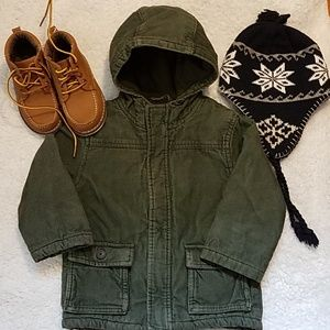 HP!💕Gymboree Boy Corduroy Jacket Dark Green 2T/3T